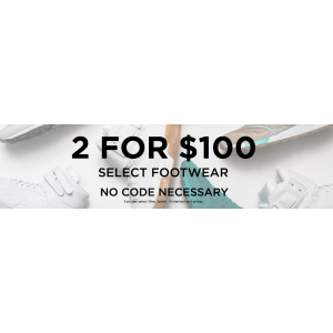 2 For $100 On Selected Footwear