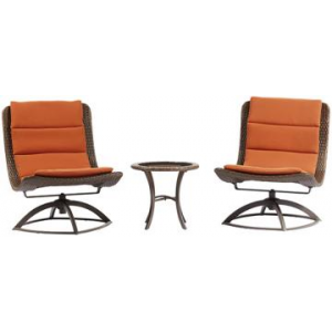 EMILIA 3-PIECE SWIVEL LOUNGE CHAIR SET At $319.00