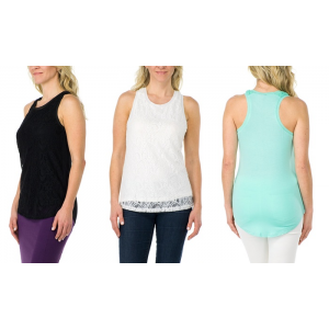 Sociology Lace Racerback Tank | Groupon Exclusive At $9.97