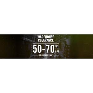 Get 50%-70% Off On Warehouse Clearence