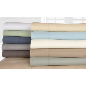 1,000-Thread-Count Wexley Home Cotton-Rich Sheet Set  At $54.97(groupon)