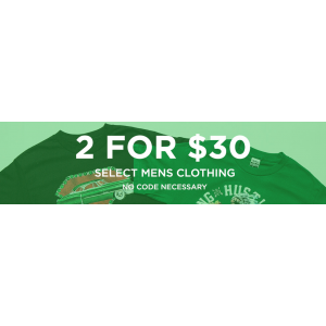 2 For $30 On select Mens Clothing(jimmyjazz)