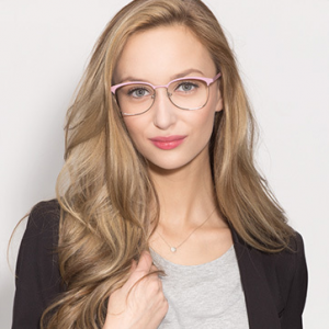 DANCER Pink/Silver Eyeglasses for Women FRAME PRICE: $40.50(eyebuydirect)