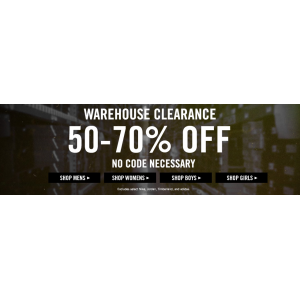 Warehouse Clearance :  Get Upto 50% to 70% Off on Apparel at Jimmy Jazz