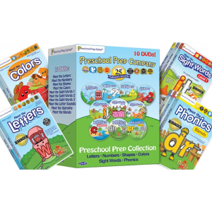 Preschool Prep 10 DVD Reading Set  Basics, Sight Words & Phonics At $39.99(Groupon)