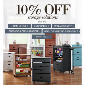 Flat 10% Off on Storage Solutions only At Homedecorators