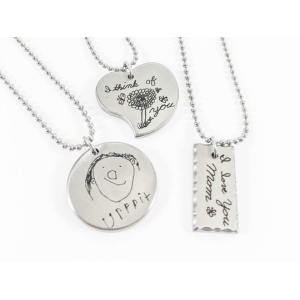 Personalized Etched Necklace At $19.99(living social)
