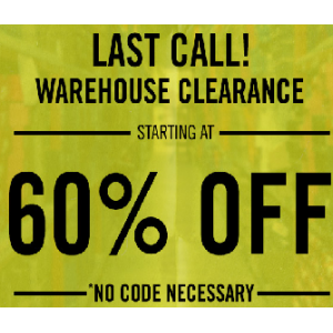 Warehouse Clearance Starting At 60% Off on Apparel(Jimmy Jazz)
