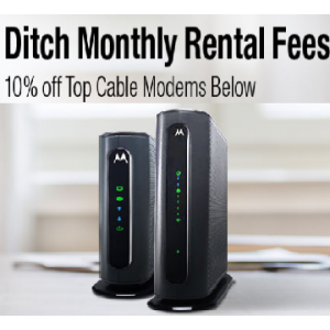 Flat 10 Off on Top Cables Modems At Newegg