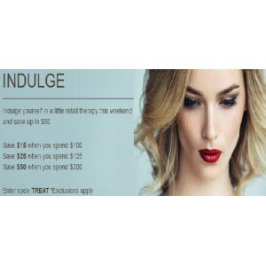 Save $15 on order $100 + $25 on order $125 + $50 on order $200 At SkinStore