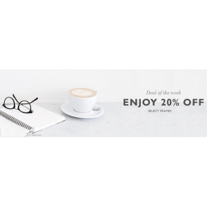 Deal of the Week : Save 20% on select frames at EyeBuyDirect