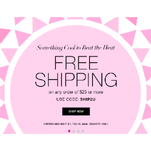 Free Shipping On Any Order Of $25 & More Only At Avon