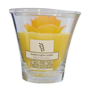 Get Yellow Rose Flower Vase Candle At $14.24(FragranceNet)