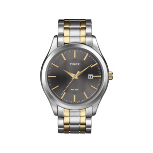 Timex Men's Elevated Classics   Two-Tone Band Black Dial Date Dress Watch T2N799 At $29.99(newegg)
