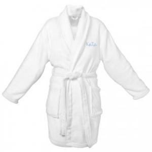 Buy Personalized White Plush Robe At $54(Homedecorators)