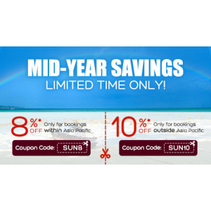 Mid Year Savings : Get 8% Off On Domestic Hotels + 10% Off on International Hotels Booking