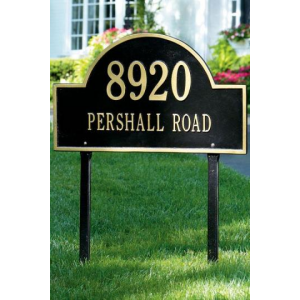 ARCH TWO-LINE ESTATE LAWN ADDRESS PLAQUE AT $151.00