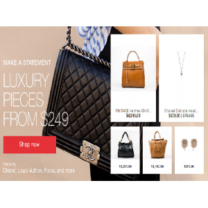 Buy Luxury Pieces from $249 At Ebay
