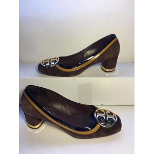 Buy Tory Burch Women's Brown Suede Block Heel Shoes At $39.99(Ebay)
