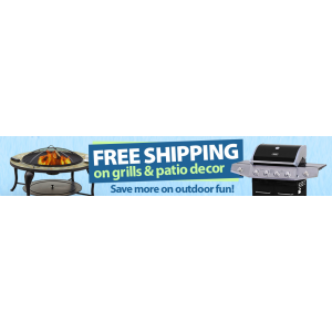 Free Shipping on Grills & Patio Decor At Walmart