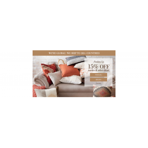 Get 15% Off On Textiles & Home Decors