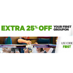 Get Extra 25% Off on Your First Order At Groupon