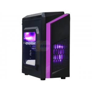 DIYPC DIY-F2-P Black/Purple SPCC MicroATX Mini Tower Computer Case$29.98
