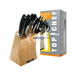 Get $83 OFF Top Chef Full Stainless Steel Knife Set 9 Pieces(Newegg)