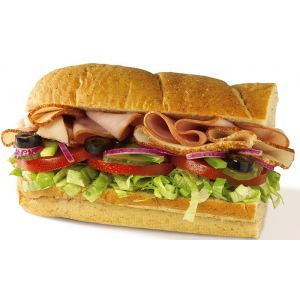 One 6 inch sub with Purchase of any 6 inch sub & fountain drink at Subway - 816 N State St At $1