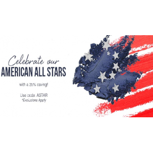 Celebrate our American All Stars with a 20% saving At SkinStore