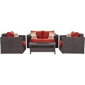 Naples 4 Piece Outdoor Deep Seating Set At $1,799.00 (homedecorators)