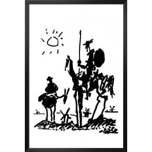 FRAMED Don Quixote by Pablo Picasso 36x24 Poster Famous Man of La Mancha At $67.20(ebay)