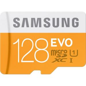 Samsung 128GB EVO microSDXC UHS-I/U1 Class 10 Memory Card with Adapter (MB-MP128DA/AM) At $39.99