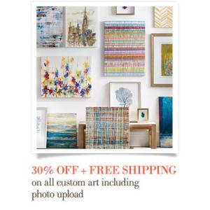Get 30% Off On CUSTOM ART PRINTS