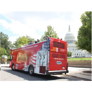 24-Hour Ticket for the Monuments Express Bus Tour At $20