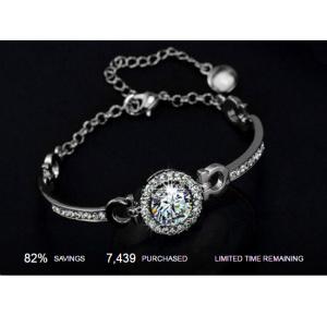Perfect Cut 3.5ct Swarovski Elements Bracelet At $12.99