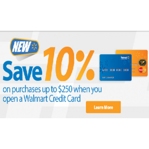 Save 10% on Purchase s Upto $250 Pay With Walmart Card