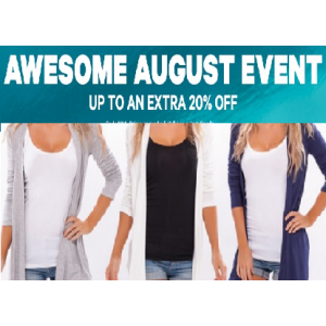 Awesome August Event : Up to An Extra 20% Off Any Product At Groupon