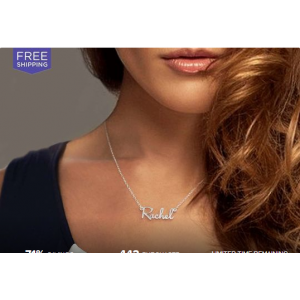 Sterling Silver Mini Name Necklace At $19.99