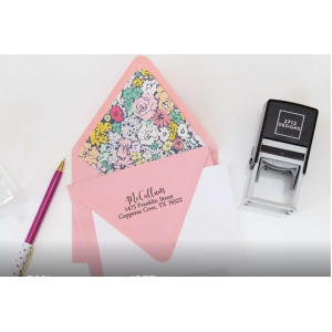 Personalized Rectangular or Square Self-Inking Stamp At $19.99