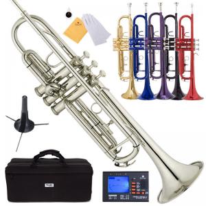 Mendini Bb Trumpet Gold Silver Black Blue Purple Red +Tuner+Case+CareKit At $99.99(ebay)