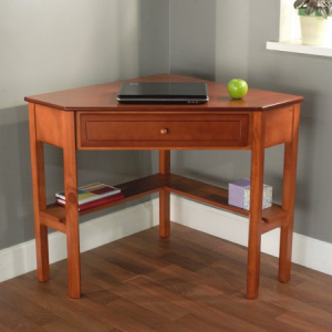 Get Corner Writing Desk, Multiple Finishes At $77(Walmart)