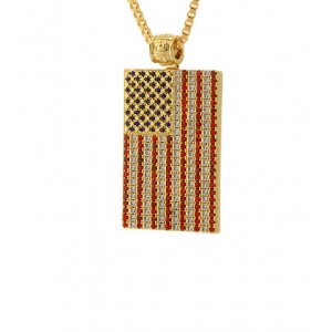 Buy King Ice 30 Patroit Necklace Just At $90(JimmyJazz)