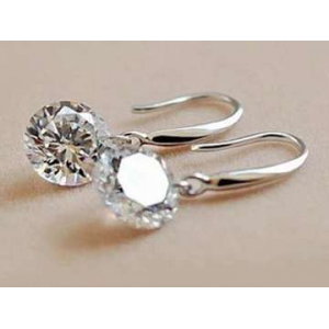 Naked Swarovski Drill Sterling Silver Drop Earrings At $14.99