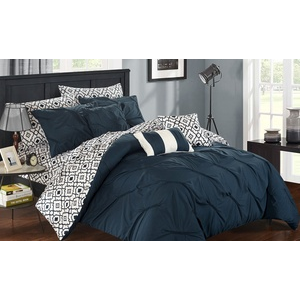 Reversible Bed-In-a-Bag Comforter and Sheet Set (10-Piece) $90