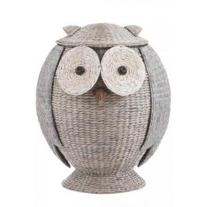 OWL HAMPER this wicker hamper is a hoot At $129.00 (home decorators)