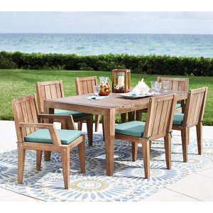 Larger View Larger	Alternate	Room	Room Detail	Detail   BERMUDA 7-PIECE OUTDOOR DINING SET this outdoor dining set is the perfect excuse for a patio party At $1,899.00 (home decorators)