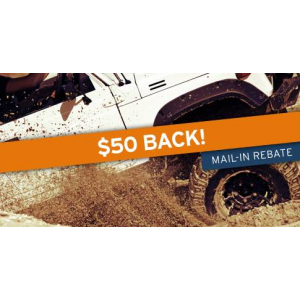 $50 back on any set of 4 BFGoodrich tires At Tirebuyer.com