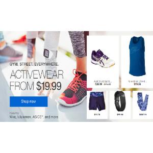 Grab Activewear Starting at $19.99(ebay.com)